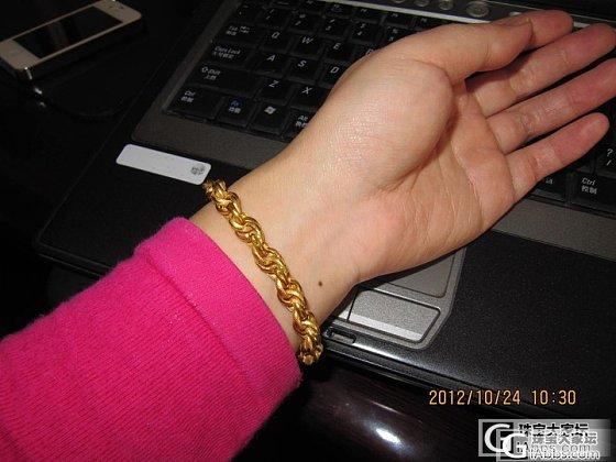 戴了一个多月的手链_手链金