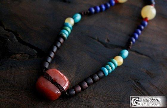 新串的 随意看看 南红 小叶紫檀 绿松石 颈圈项链 青金石 尼泊尔手工铜佛隔珠_工艺