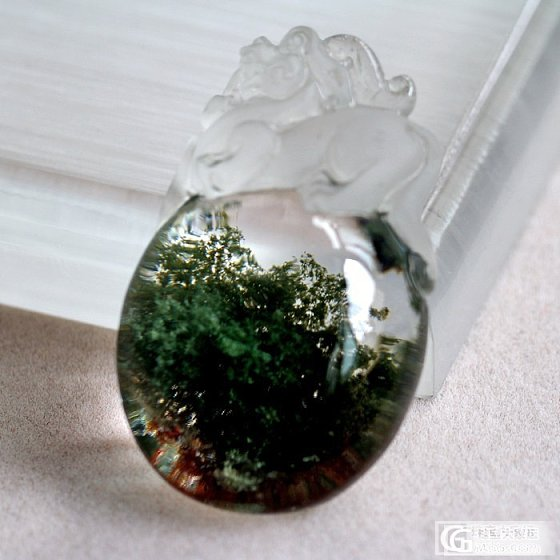 貔貅绿幽灵 水晶大吊坠晶体超好雕工细腻_宝石
