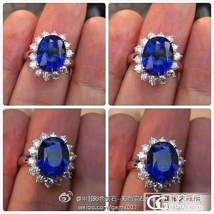 GRS证书 收藏级别 8.03ct天然斯里兰卡皇家蓝蓝宝石戒指 白金钻石_宝石
