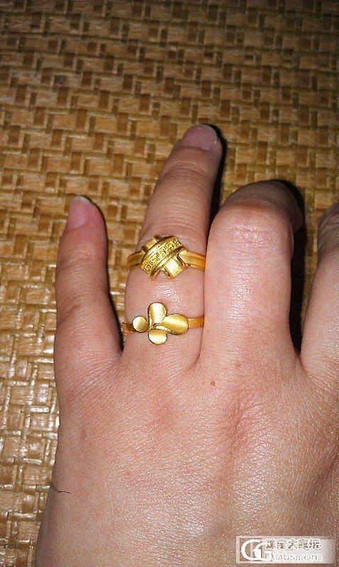 两个花戒,大家喜欢哪个?_戒指金