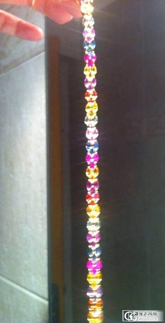 色彩缤纷,甜蜜热闹 新收的彩蓝宝宝手链,美丽又实惠:)_蓝宝石