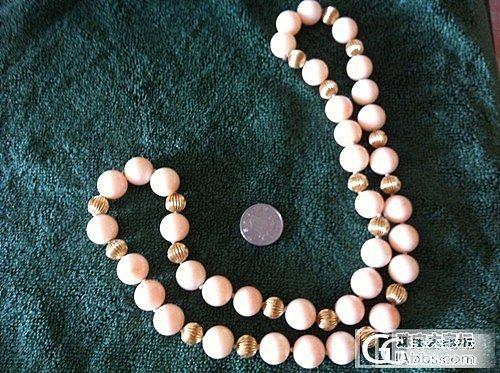 粉珊瑚项链,谁能帮我估个价啊,谢谢了_珊瑚