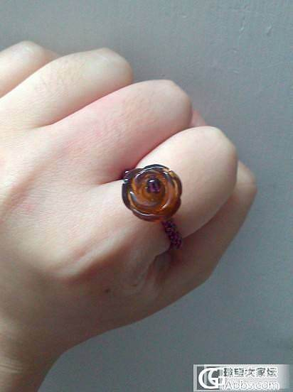 DIY 琥珀戒指一枚_琥珀