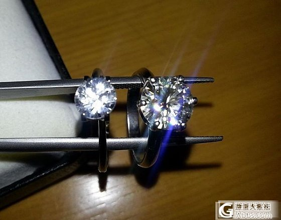 几天来看莫桑石和钻石得争论,我也做了个比较!_莫桑石钻石
