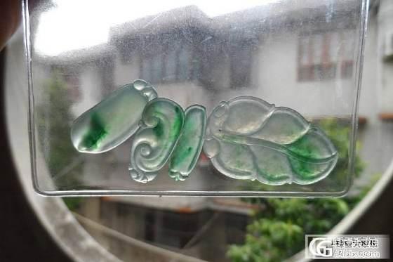 飘绿冰种翡翠花件_翡翠