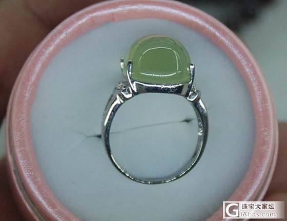 大约15克拉葡萄石925银戒指 300元_宝石