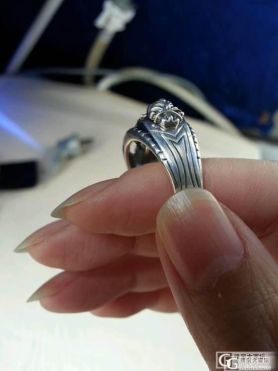 求快出,再次大刀,转个925金刚杵转运戒指和个950荷叶铃铛戒指_银