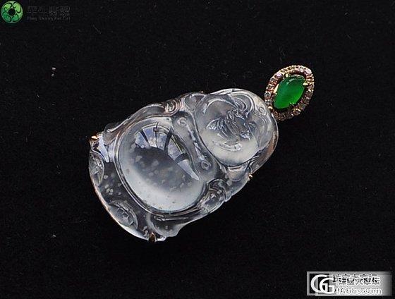 【平生翡翠】 130903019 玻璃种雪花镶嵌佛公 售价:18000元_平生翡翠