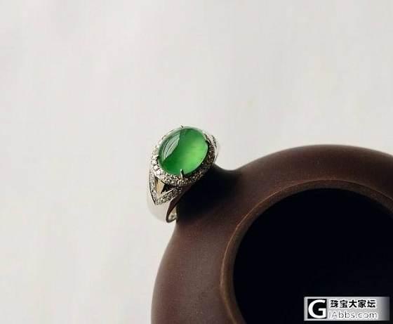 【大器翡翠】——3月29日新货 满绿木那种戒子 玻璃种福瓜!_翡翠