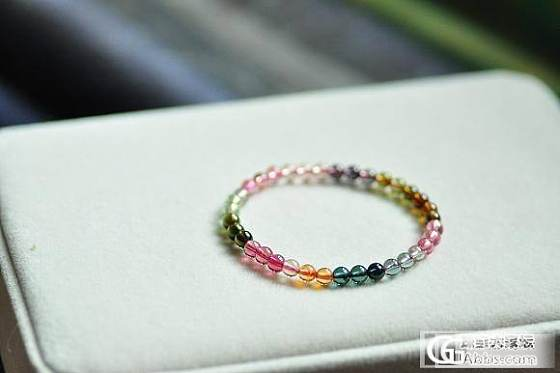 通透油艳  6mm的全彩玻璃体碧玺手链  起荧光的水粉紫貔貅_宝石