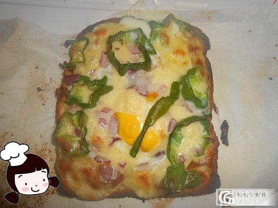 热干面和土司鸡蛋披萨~_美食