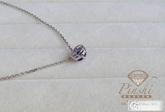 美艳 坦桑石伴钻 锁骨链 附证书 包含项链 职场首选 送礼体面_宝石