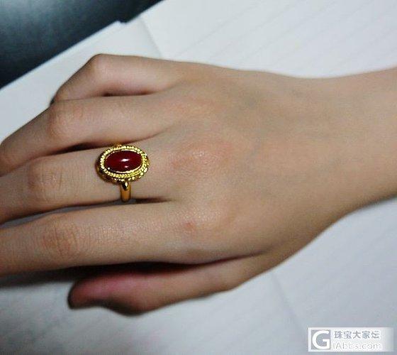 血红血红的---全手工9999金阿卡珊瑚戒指_珊瑚戒指金