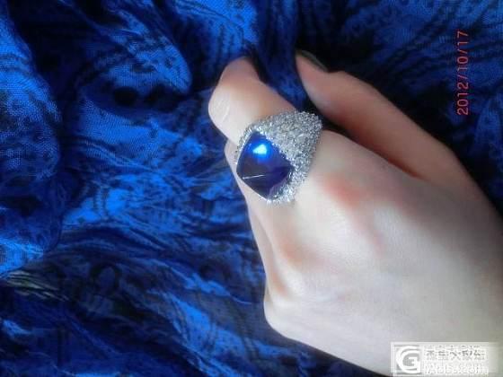 第一次购买的一颗坦桑石,18.5克拉特别的切割与款式。_坦桑石刻面宝石