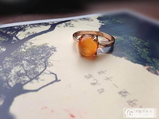 转可爱橙黄色玛瑙糖果戒指~_宝石