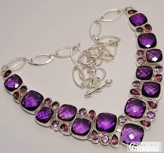 一串欧美最新大师级设计极品非洲紫晶项链,孤品_宝石