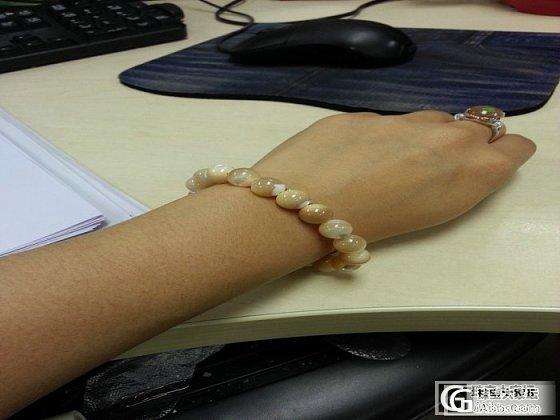我新买的深海银丝砗磲手链_砗磲