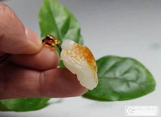 【和田玉】洒金红皮 白玉籽料 英雄如意佩_传统玉石