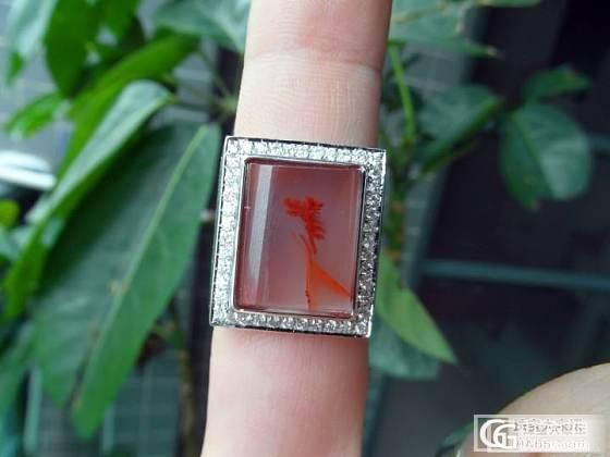 南红玛瑙中的极品,水粉色!透明状,镶嵌出来更加诱人。。。_翡翠