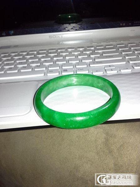 新人的一只旧绿绿绿绿绿镯子,估估吧......_翡翠