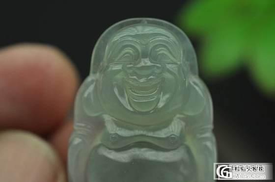 冰种 晴水绿 正装站佛_翡翠