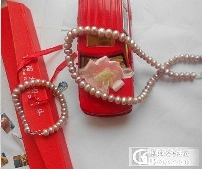晒晒帮我姐寻的粉紫珍珠项链手链一套,外加自己买的一根小米珠_珍珠