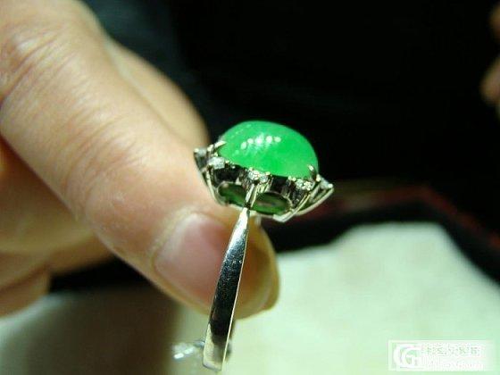 看中一绿翡翠戒指,求估价_翡翠
