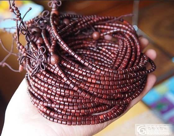 保真!印度小叶紫檀手串◎3mm216颗桶珠手链 可绕手5圈_宝石