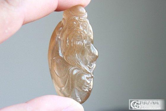 这个老寿星雕的很好,我大爱!黄兔毛。_珠串