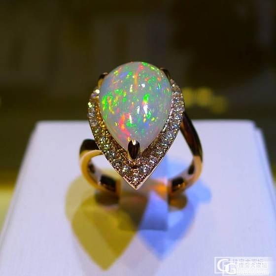 五彩斑斓-欧珀戒指一枚+素面欧珀套装_欧泊刻面宝石