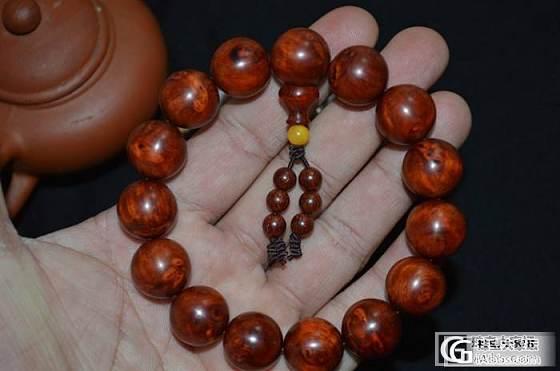 印度小叶紫檀、高密度瘤疤瘿子带星、老料1.5cm*15颗手串_文玩