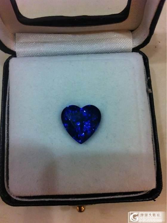 这坦桑蓝的颜色够浓郁吗?_坦桑石刻面宝石