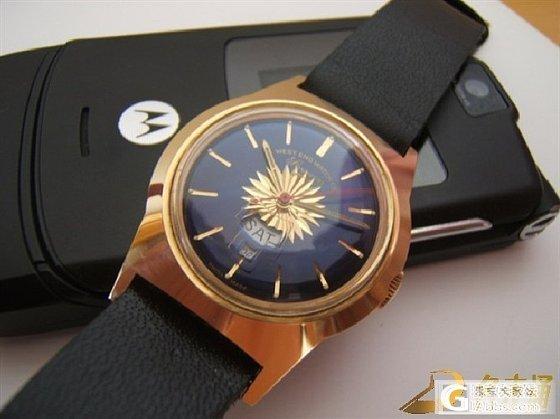 我收藏的库存级瓦时针黑面蛇形针单历军表以及金花蓝瓦(见图)_手表