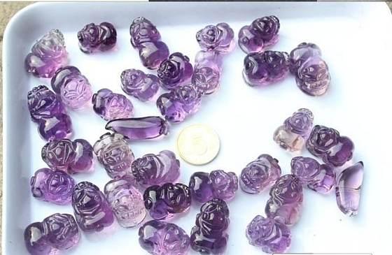 秀一下我家的乌拉圭紫水晶吊坠_宝石