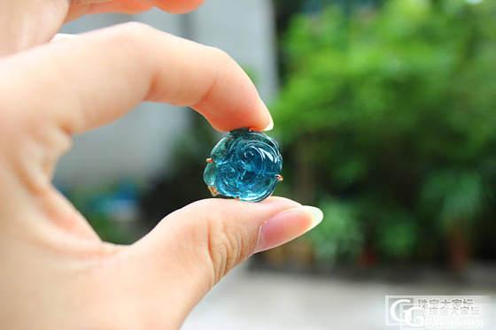 尊凰珠宝:晒颗湖水蓝碧玺戒指,刚做出来就卖了,呵呵_宝石