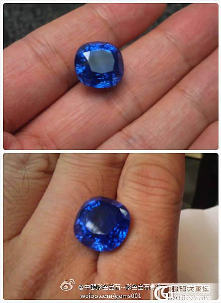 天空一声巨响,镇店的蓝宝石登场。_中颐彩色宝石