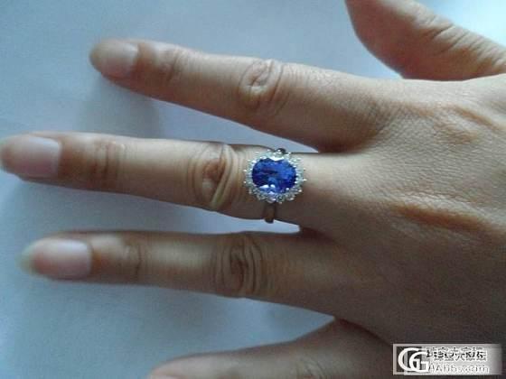 新买的坦桑石戒指,帮忙看看值不值??_坦桑石刻面宝石