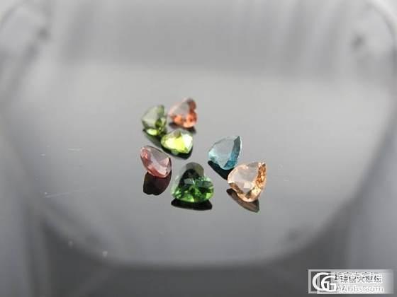 武汉伊戴永恒珠宝 一些心形的碧玺裸石 接受定制_宝石