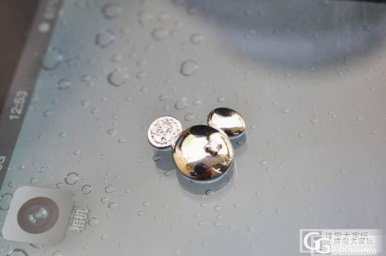 代朋友700元出售周大福95新18K白金镶钻吊坠,迪斯尼disney系列_钻石
