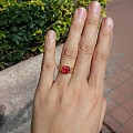 新做的尖晶戒指。。