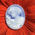 珍藏的德国玛瑙卡梅欧浮雕。带雕刻大师的签名。