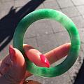 欧洲拍卖行收的一个阳绿镯子