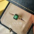 巴基斯坦祖母绿戒指 镶嵌好了
