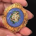 维多利亚时期威尼斯微马赛克耳环