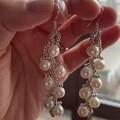 银色葡萄🍇枝珍珠耳环