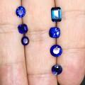 一手色标级颜色皇家蓝蓝万博体育manbetx官网,晶体干净,随便挑,做成品效果非常好