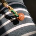 小桃篮手机链
