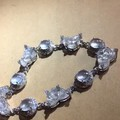 一手玻璃蛋和玻璃荷花镶嵌的手链